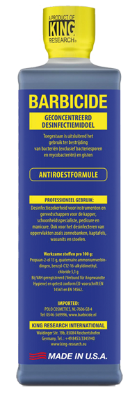 Barbicide desinfectie concentraat 473 ml
